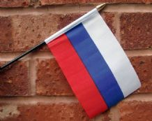 HAND WAVING FLAG (SMALL) - Russia